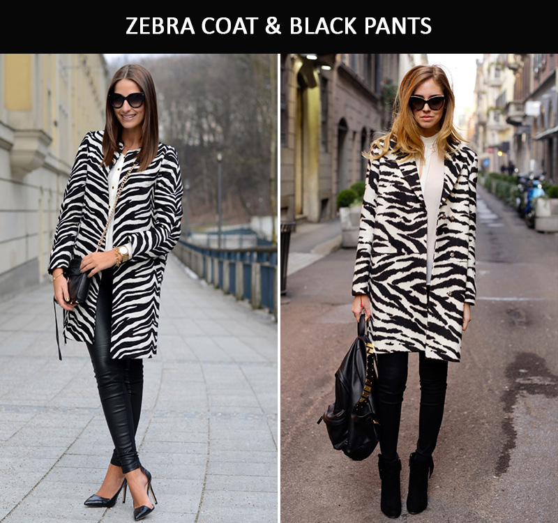 zebra coat, zebra street style, zebra fashion