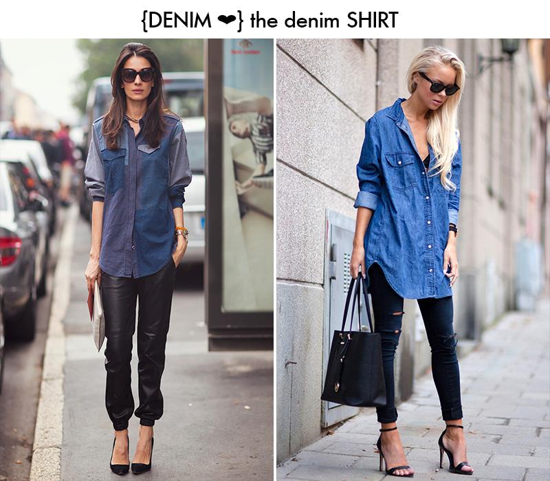 denim shirt, denim shirt style