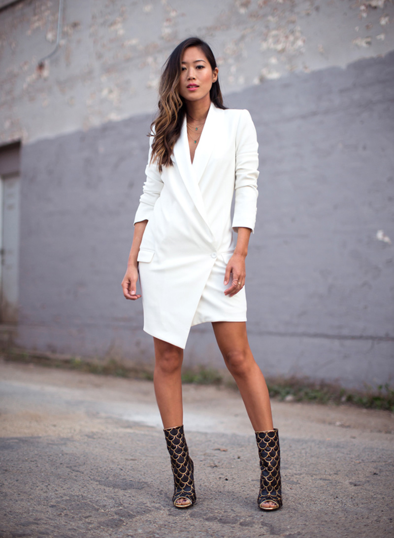 aimee song style, blazer dress