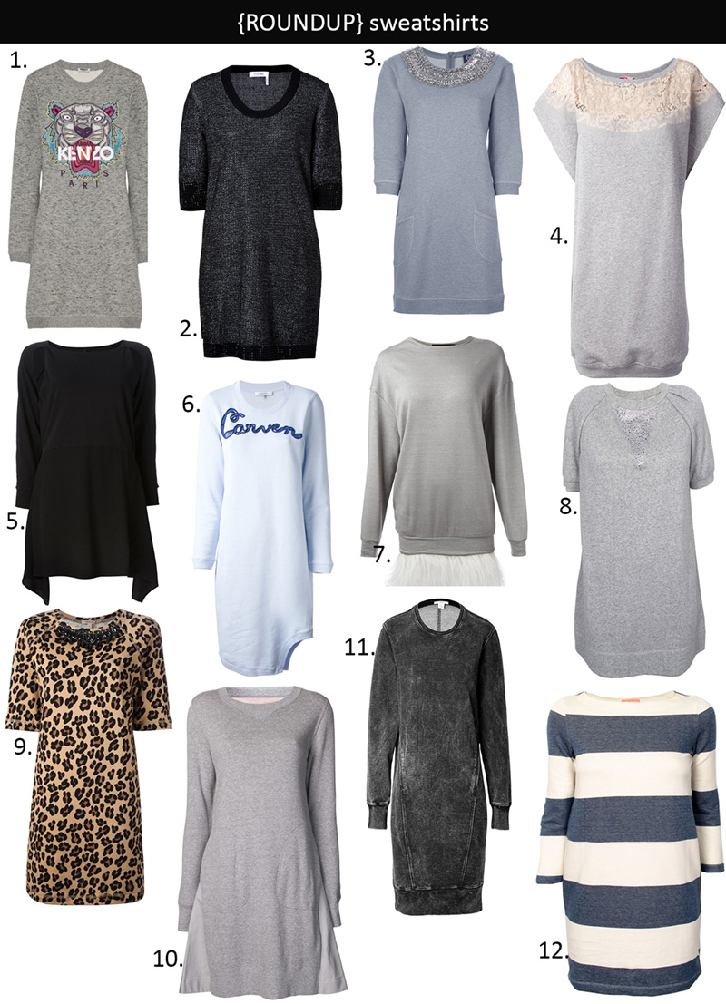 sweatshirt dresses, sweatshirt dress ideas
