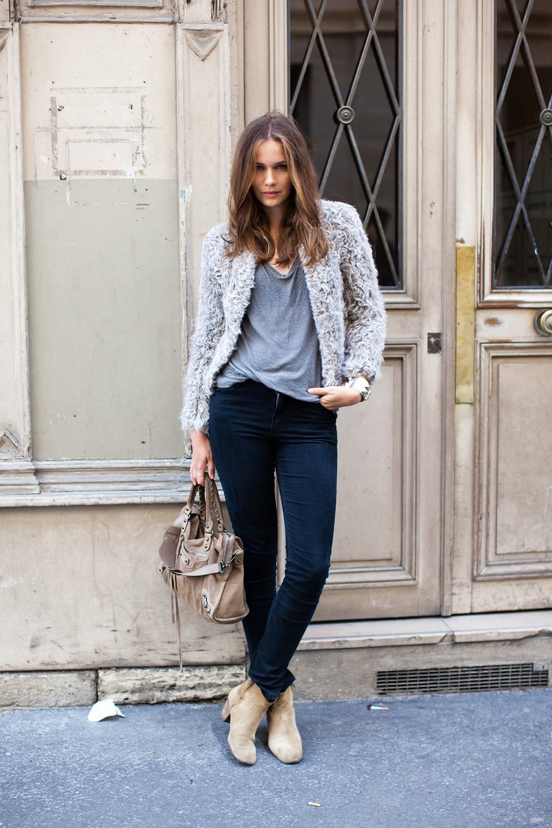 gray street style, gray fashion, gray inspiration (19)