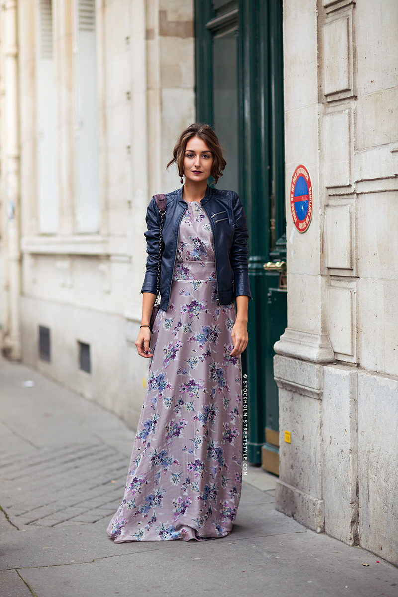 gabriela atanasov, floral dress street style