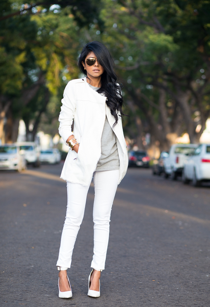 sheryl luke style, all white style, all white street style
