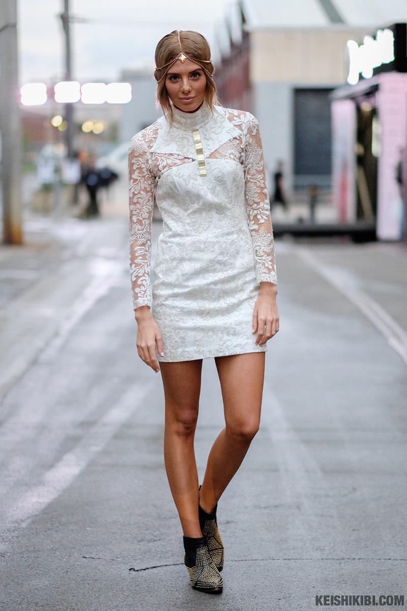 white lace, mbfwa street style