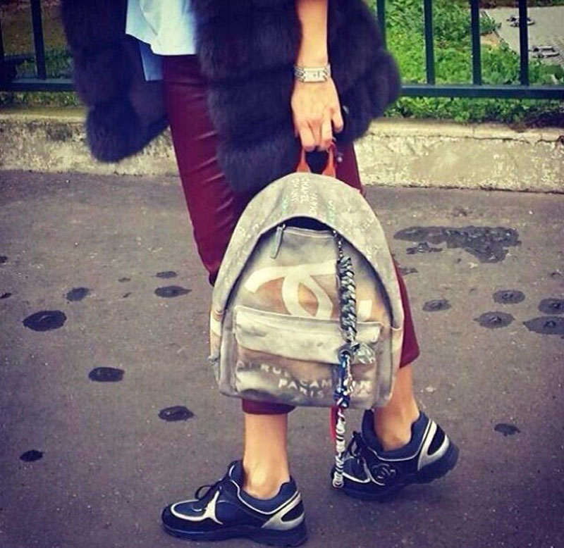 chanel canvas backpack, chanel backpack, chanel canvas grafiti backpack (10)
