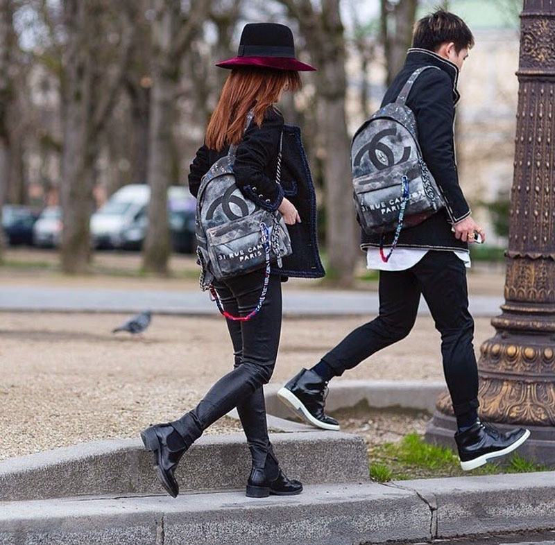 chanel canvas backpack, chanel backpack, chanel canvas grafiti backpack (15)